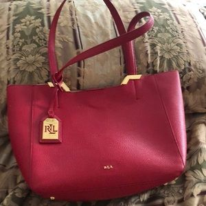 Ralph Lauren leather red 👛 purse